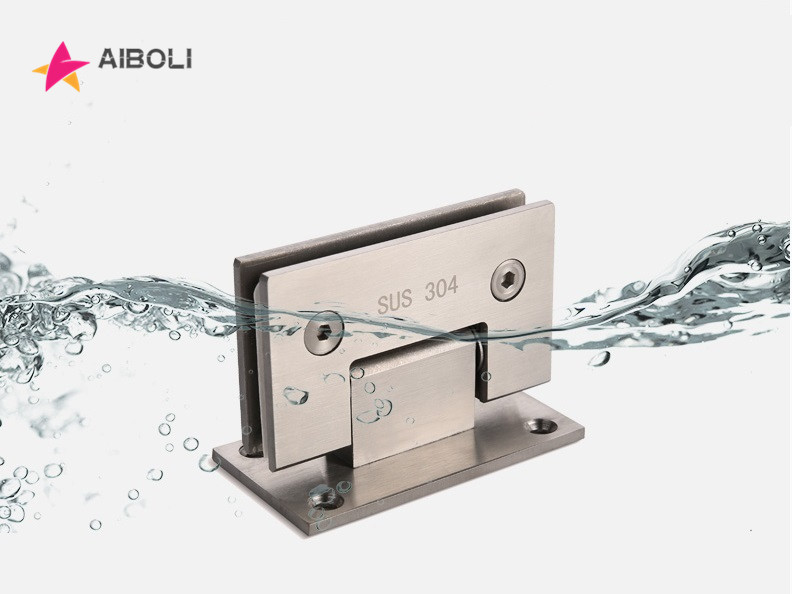AIBOLI 90 Degree Open 304 Stainless Steel Wall Mount Glass Shower Door Hinge For Home Bathroom Furniture Hardware 2pcs 304 stainless steel black paint hinge 90 degree open wall mount glass shower door hinge for home bathroom hardware jf1320