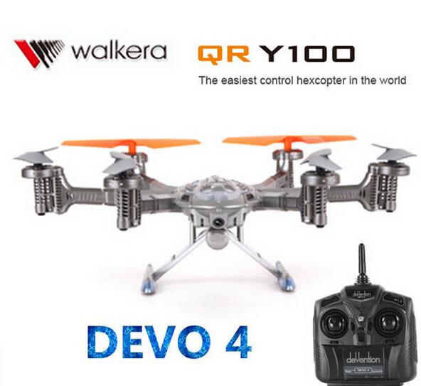 ( Em estoque ) Walkera QR Y100 5.8 Ghz 6-Axis WIF FPV Drone helicóptero com câmera DEVO 4 transmissor