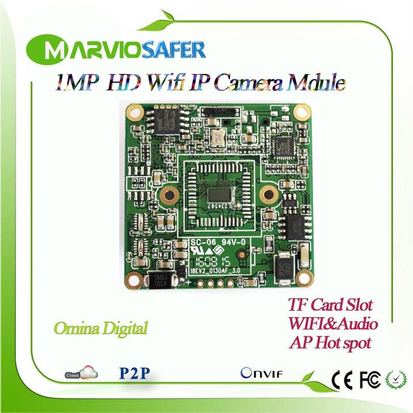 Marviosafer Nouvelle 720 P HD 1MP WI Fi IP Caméra Réseau Module conseil Sans Fil Audio Onvif de stockage interne TF Fente Pour Carte AP Wifi