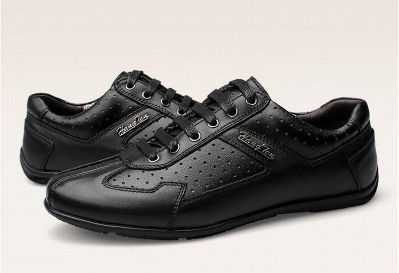 Vintage Encaje Negocios Estilo Británicos Los Coreano Black Zapatos Transpirables De Conducción Hombres Genuinos Cuero Casuales Hasta AwpwPqH