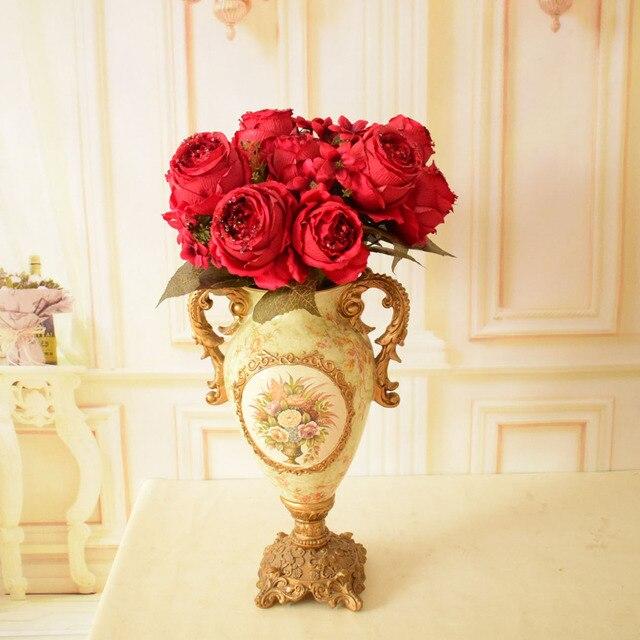 Paillette Seide rosen Künstliche Blumen Bouquets für home Weddding ...