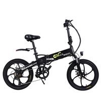 20 Inch Lithium Battery Electric Bicycle 48v10ah Hidden Under 350 W Motor High Speed Folding Electric Bicycle Without Eu Tax
