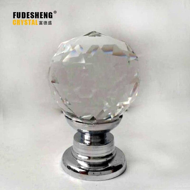 25mm Moderne Minimalistische Stijl Garderobe Ladekast Wijnkast Hand Grip Crystal Ball Schudden Handshandle Slingerknop Sj-2005