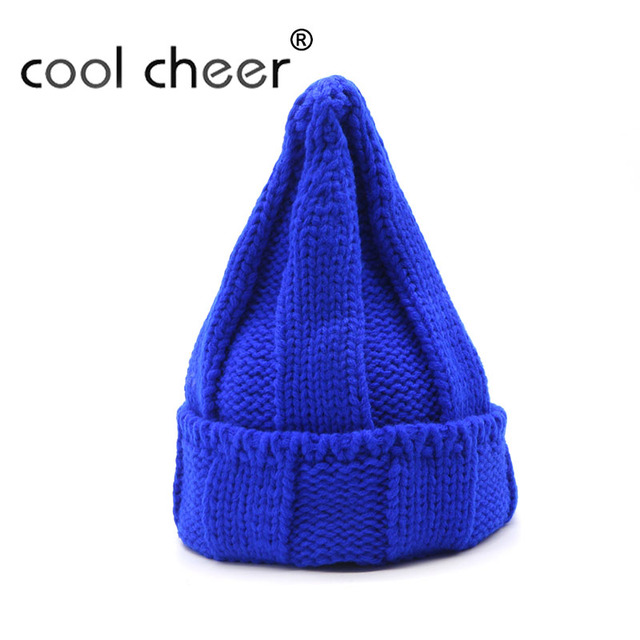 90d04626a8b COOL CHEER Women Men Beanies Couple knitted Hat Black Red Blue Green  Fashion Acrylic Female Male Knitting Autumn Winter Hats