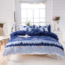 Nordic Style Fashion Duvet Cover Quilt Comforter Case Bedding Set Kids Cotton Soft Skin Fabric Bed Linen 24(China)