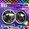 COLIGHT LED Headlight 7 Inch 12V Led With RGB Angel Eyes Hi Lo For Lada 4x4
