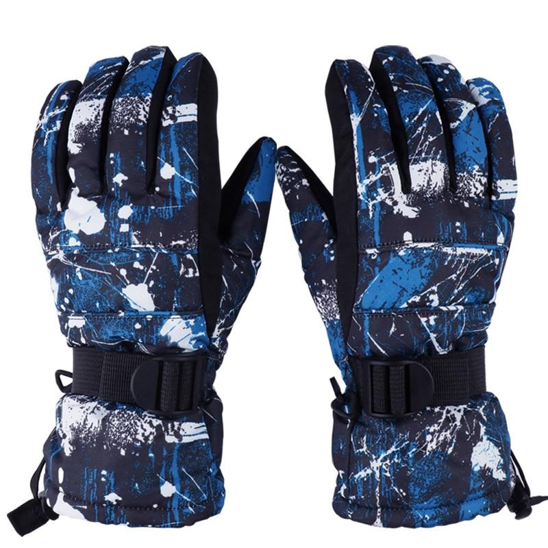 -30 Degree Men Women Boy Girl Chidren Kids Ski Gloves Snowboard Gloves Motorcycle Winter Skiing Climbing Waterproof Snow Gloves Easy To Use