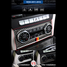 Carbon Fiber Air Conditioner Control Panel Sticker For Mercedes-Benz C-class W204 2010-2013 Car Stickers and Decals