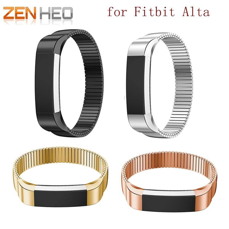 ZENHEO Elastic Watchband For Fitbit Alta Tracker Smart Watch Stainless Steel Bracelet Band Strap Bracelet WatchBand Watch Straps