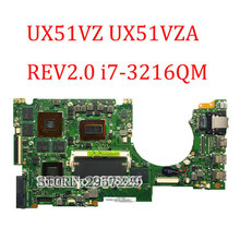 For ASUS UX51VZ UX51VZA laptop motherboard REV 2.0 mianboard with i7-3612QM SR0MR cpu tested good