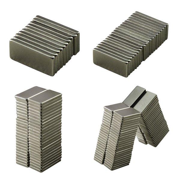 10pcs 20x10x2 mm Strong Block Cuboid Fridge Magnets Rare Earth Neodymium Bulk Sheet Mini Small Disc Magnetic Materials Home earth 2 society vol 4 life after death