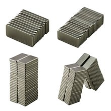 10pcs 20x10x2 mm Strong Block Cuboid Fridge Magnets Rare Earth Neodymium Bulk Sheet Mini Small Disc