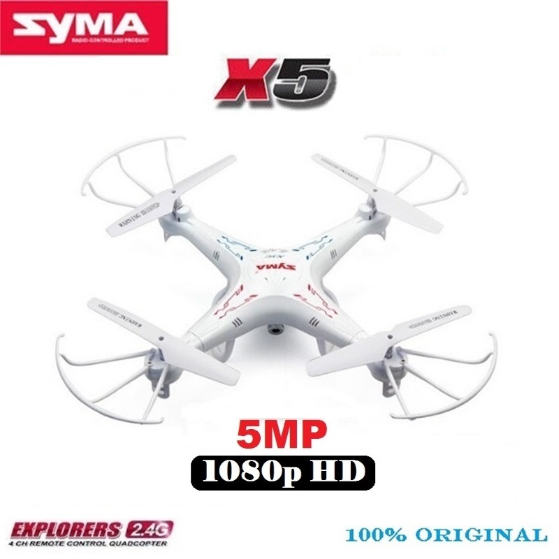 SYMA X5 X5-1 RC Drone With 5MP 1080P HD Camera 2.4G 6-Axis Remote Control Helicopter Quadcopter Better Than SYMA X5C 2MP Camera cheapest price hot selling syma x5c x5c 1 2 4g rc helicopter 6 axis quadcopter drone with camera vs x5 no camera free shipping