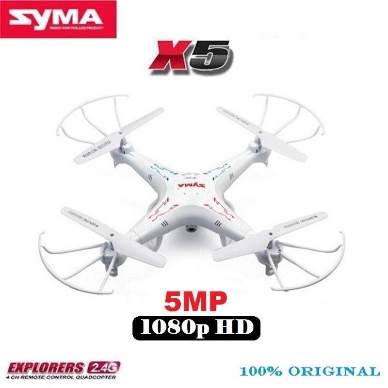 SYMA X5 X5-1 RC Drone Avec 5MP 1080 p HD Caméra 2.4g 6-Axe Télécommande Hélicoptère Quadcopter mieux Que SYMA X5C 2MP Caméra