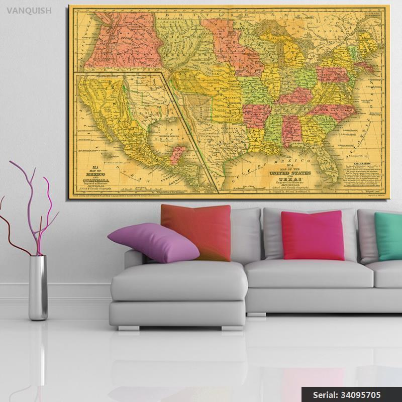 Compare Prices On Usa Map Print Online ShoppingBuy Low Price Usa - Rand mcnally us wall map