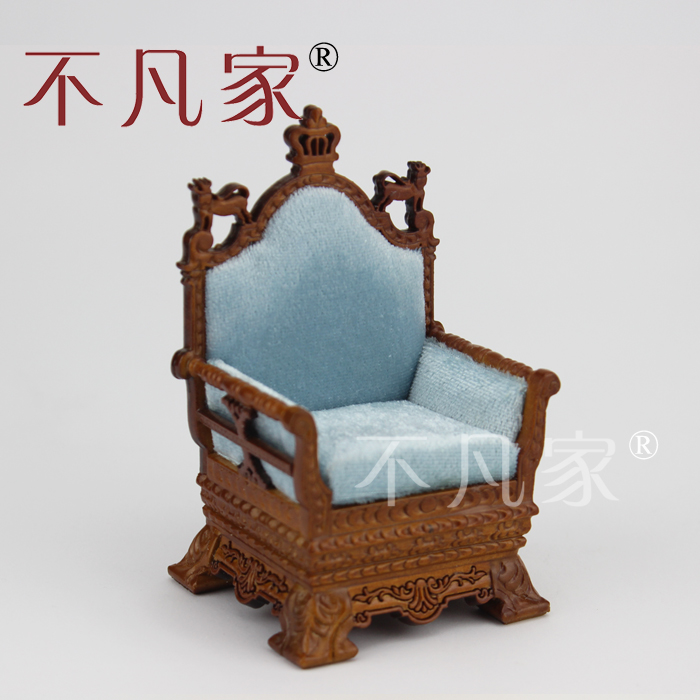 Dollhouse 1/12 Scale Miniature furniture Hand Carved high quality Retro chair