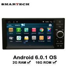 Marca 2Din Para Toyota Camry Corolla Vios Hilux Edad Universal Coche GPS de Navegación de Radio Estéreo Reproductor de Audio Android 6.0 Coche 2G RAM