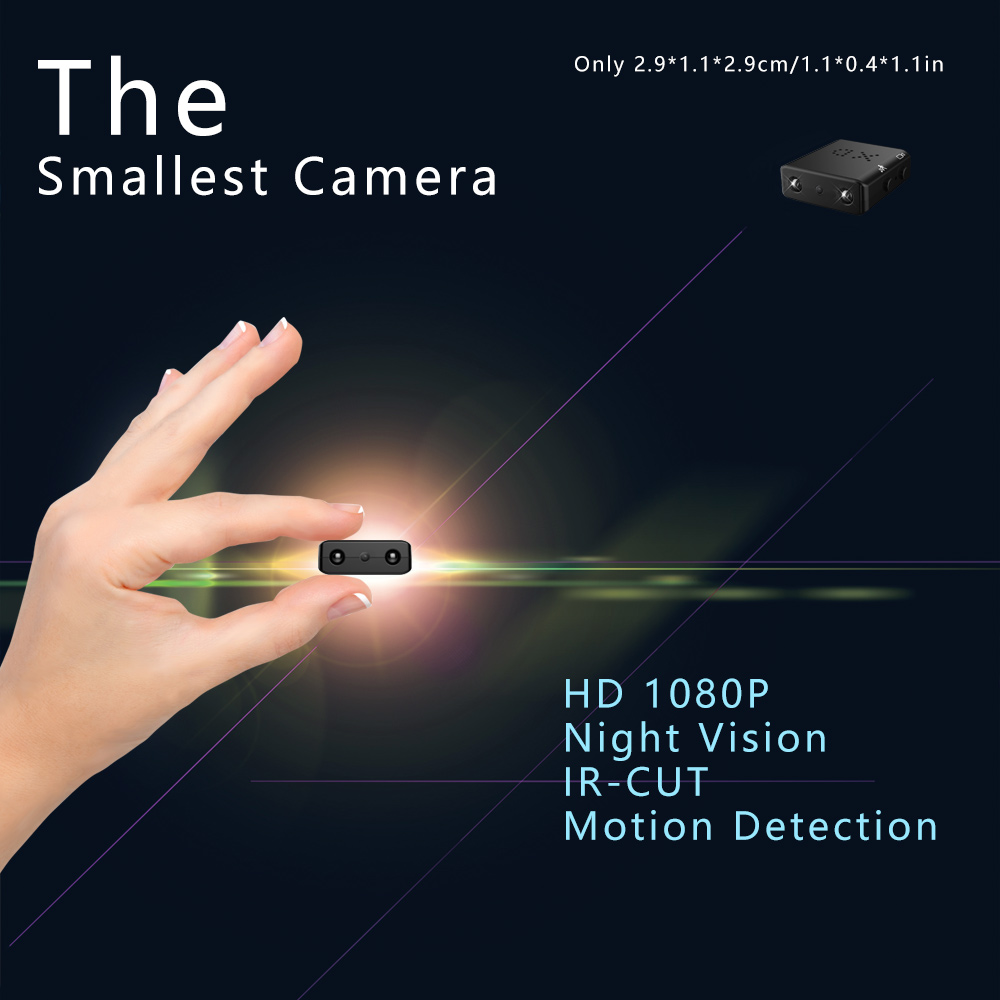 Mini Hidden Spy Camera 1080P Full HD Infrared IR-CUT Camera Night Vision Micro