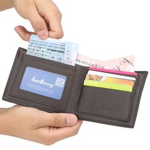 2019 Men Wallets PU Leather Purse Card Holder Male Coin Pock