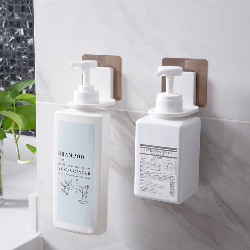 2019 Sticky hook wall magic stickers shower gel bottle rack bathroom shampoo hand sanitizer suction type no