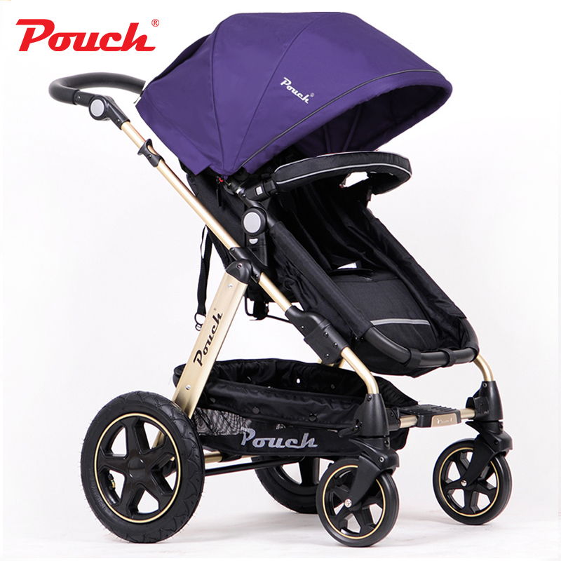 Baby trolley can be sitting can be lying baby stroller light high-profile baby folding portable shock absorber children's cart