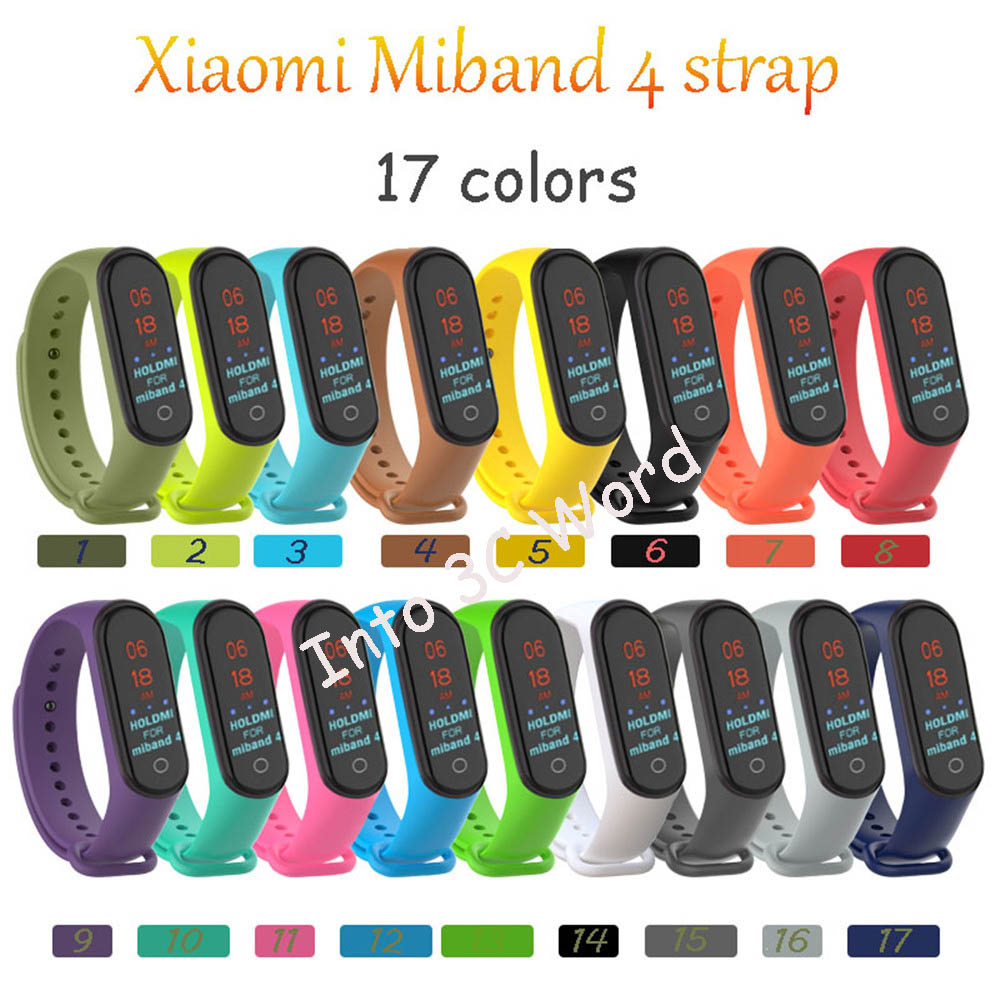 Wrist Strap For Xiaomi Mi Band 4 2019 Newest Soft Silicone Band Strap For Miband 4 Sport Smart Wearable Accessories Watch Strap