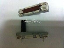 20pcs/lot  3.5 cm straight sliding potentiometer 50KB single point axis 15MM volume fader