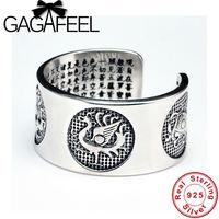 GAGAFEEL Thai Silber Ringe Vintage Vier Tier Bösen Geistern S999 Sterling Silber Ringe für Männer Einstellbare Schmuck Geschenke Großhandel