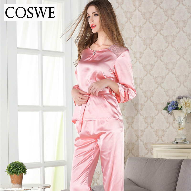 5be2bdc8684 Plus Size Sexy Women Sleep Clothing Lace Pajama Set For Female Casual Home  wear Spring Brand Pajamas Sets