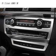 Для BMW X5 X6 E70 E71 внутренняя отделка кондиционер CD Управление Панель стайлинга автомобилей наклейки охватывает украшения авто аксессуары