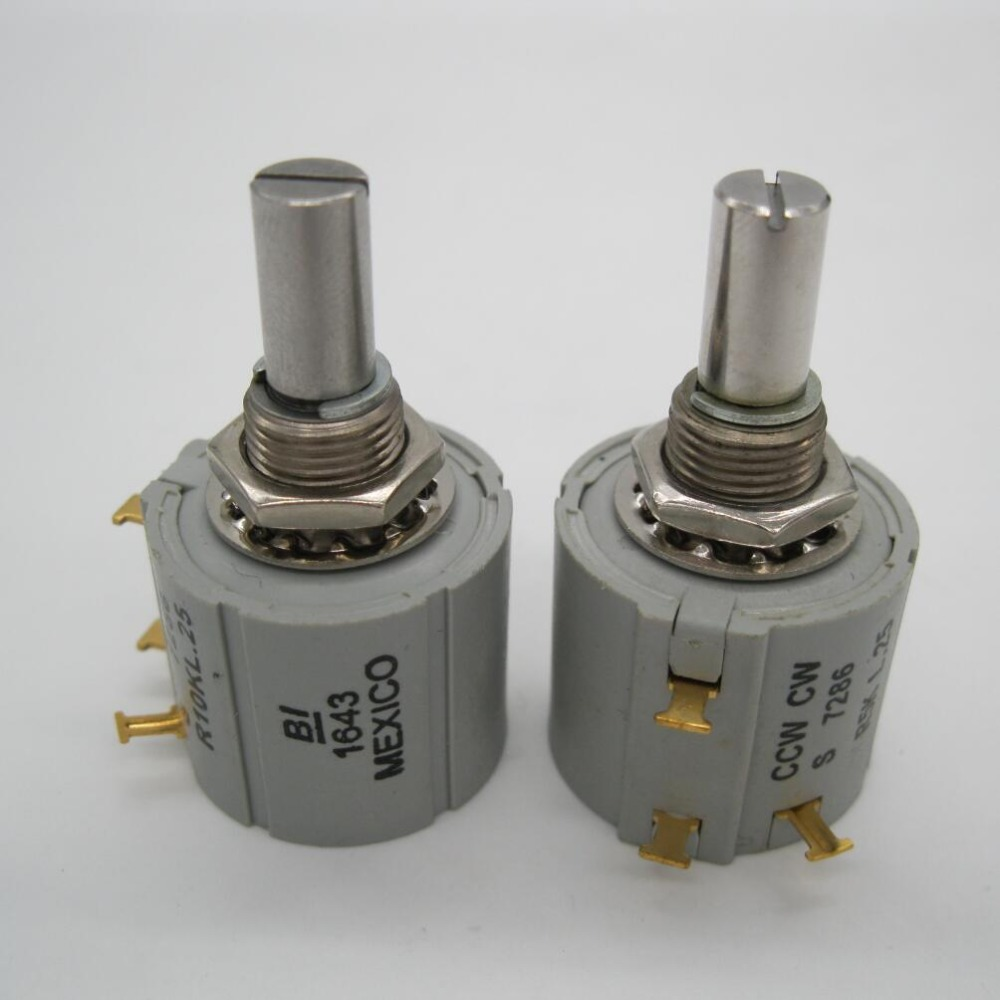 Multiturn Potentiometer <font><b>10</b></font> Ring embroidery machine spare parts - CCW CW S 7286 R1K L.25, BI Mexico 2W Rotary Wirewound R1K image