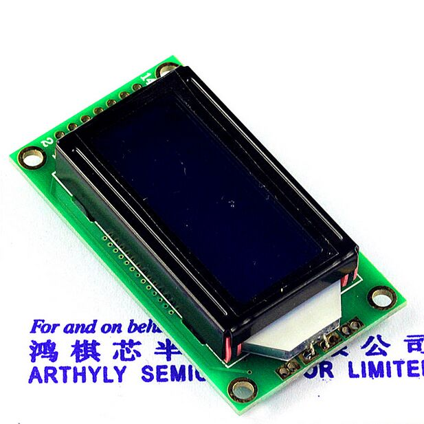 5pcs/lot Blue LCD0802 Character Display Module 5V 0802 for Arduino