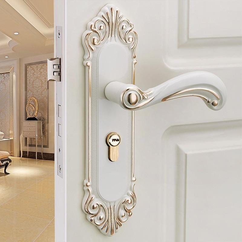 ivory color interior room door lock full set wooden door