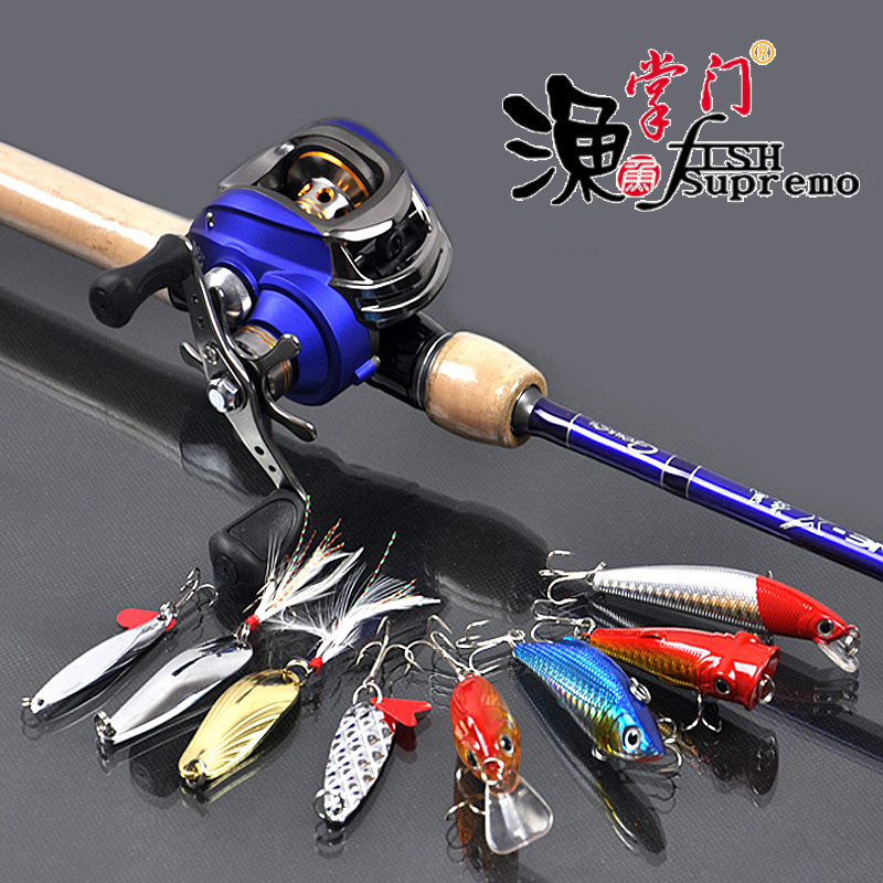 ФОТО carbon fishing rod and reel combo 6'6 M action