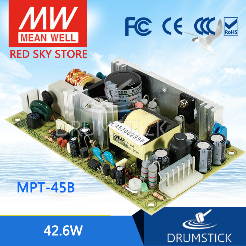 Advantages MEAN WELL MPT-45B meanwell MPT-45 42.6W Triple Output Medical Type ab 45b black
