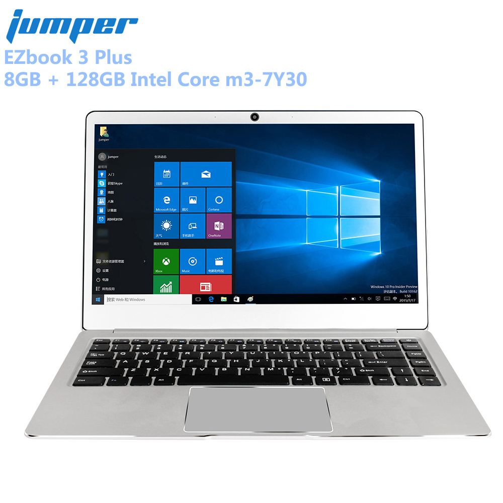 Jumper EZbook 3 Ainsi qu'un Ordinateur Portable 14.0 ''1080 P 8 GB + 128 GB Windows 10 Maison Intel Core m3-7Y30 double WiFi Ordinateur Portable En Métal Cas