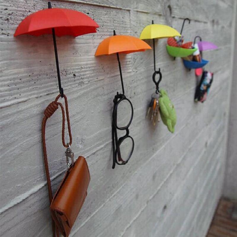 Creative Home 3pcs Umbrella Shape Hooks Fashion Novel