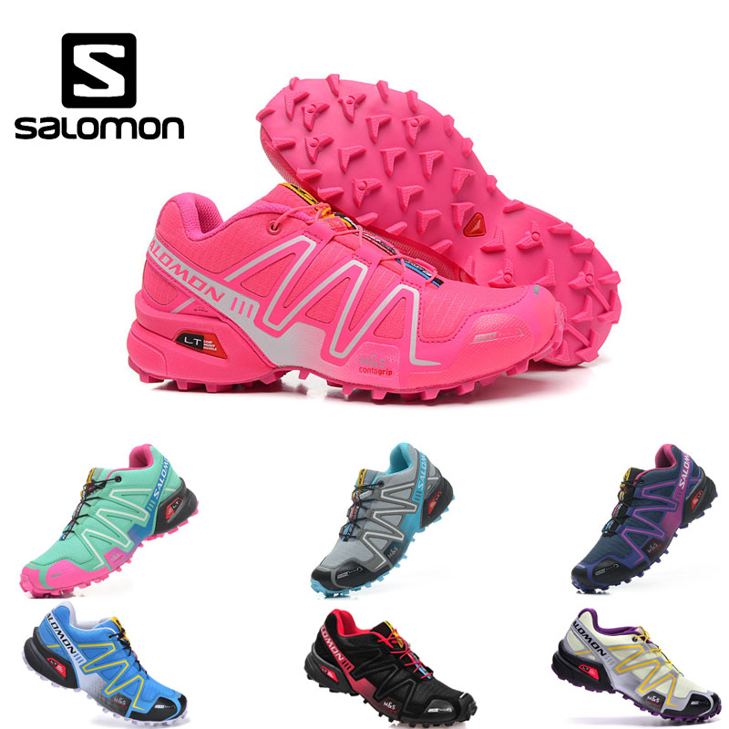Salomon Speed Cross III Women's Shoes High Quality Breathable Sneakers Female Sports running Shoes 36-39