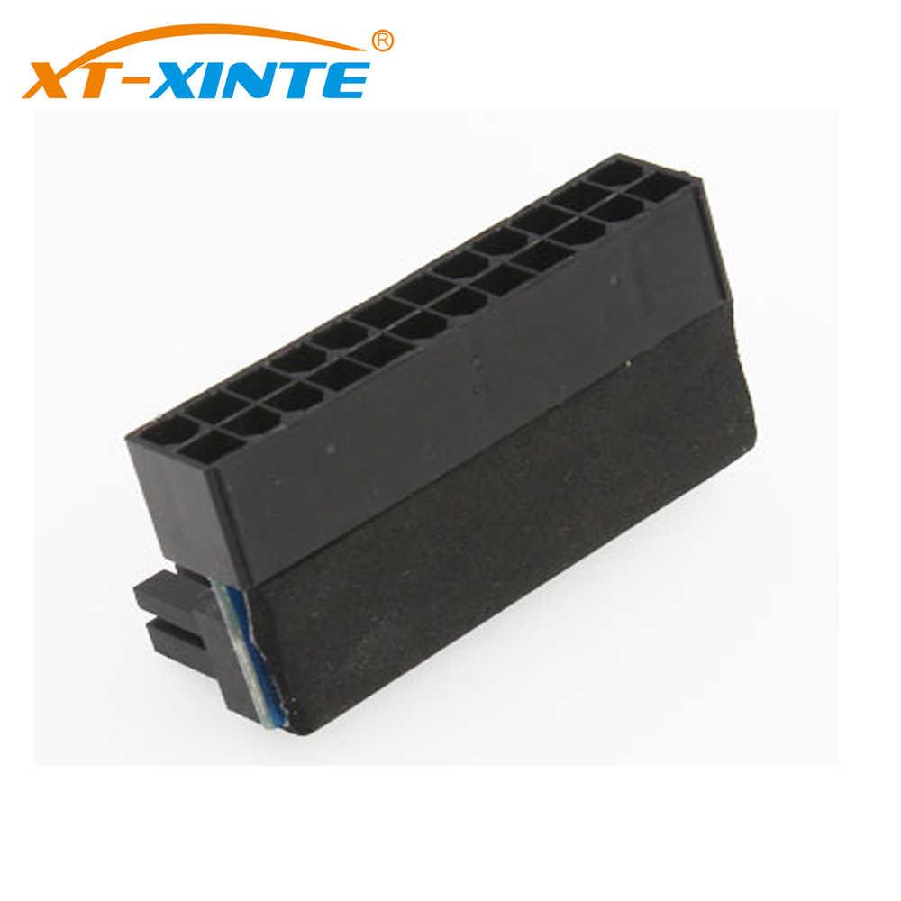 ATX 24Pin נקבת 24pin זכר 90 תואר מתאם מתח Mainboard האם 24 פין מחבר עבור מחשבים שולחניים מחשב כבל חשמל אספקת