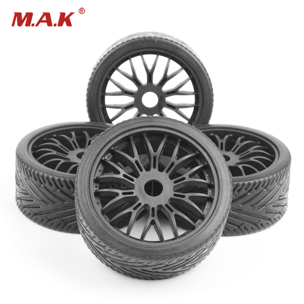 1:8 RC Car Buggy Tires Flat Off Road Tyres Wheel Rims Set 17mm hex For HPI HSP Traxxas Accessories villa living room chair garden party green yellow red black purple color stool coffee bar chair wholesale free shipping