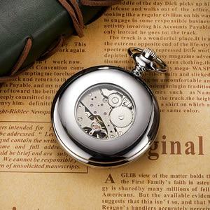 Image 5 - 新 oyw ハンドメカニカルスチームパンク男性懐中時計ダイヤル鋼のネックレスのチェーンフォブ時計