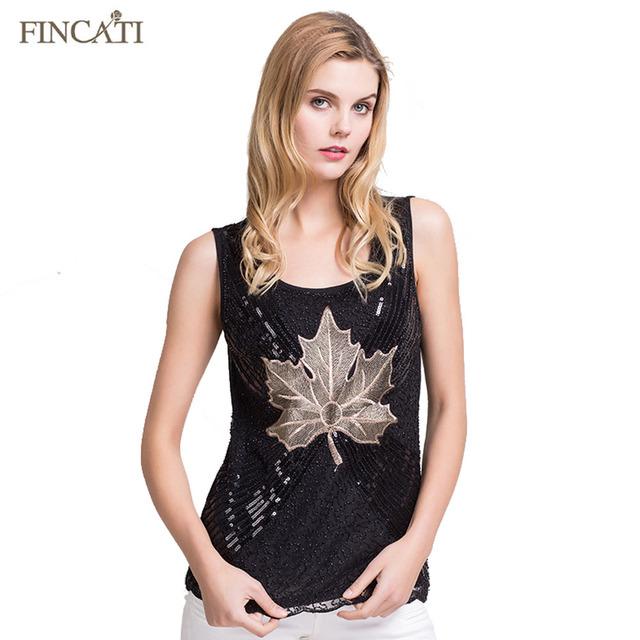 Venda quente 2017 Novo Estilo Moda Verão Mulheres Casual Floral Bordado De Lantejoulas Folha de Bordo Projeto Beading Rendas Encabeça Camisa