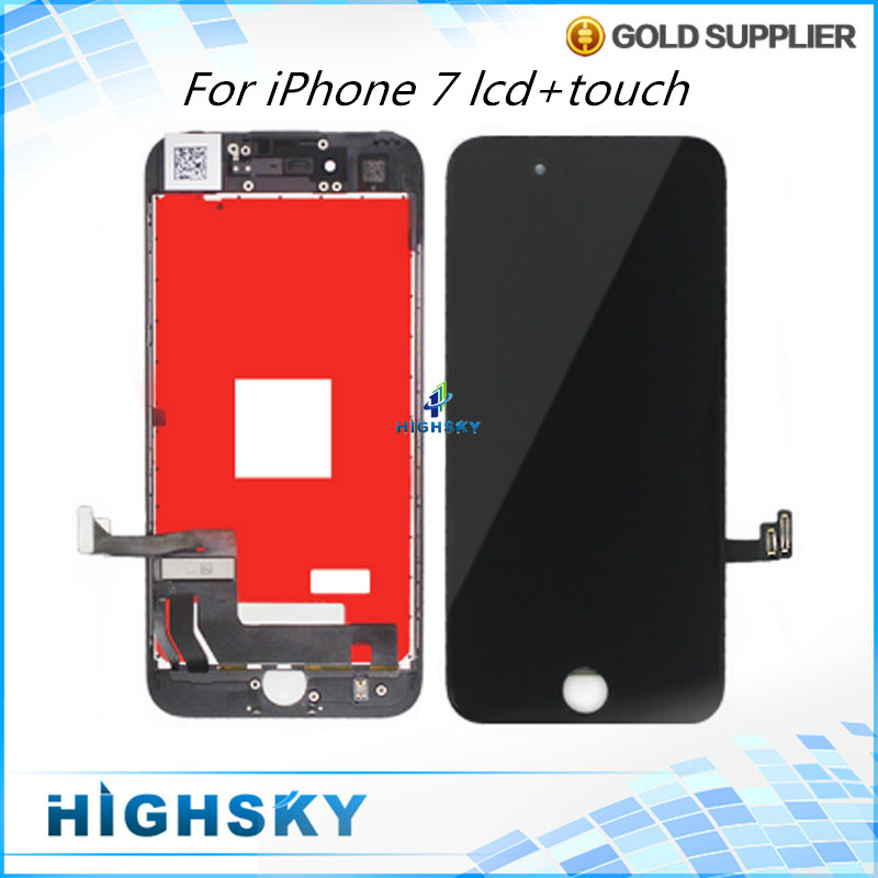 3 pcs/lot For Apple iPhone 7 LCD 7G A1660 Display With Touch Screen Digitizer Glass + Frame Assembly 4.7 Free DHL EMS shipping