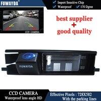 FUWAYDA vista trasera de coche reverso CCD/con línea de referencia/170 grados/impermeable/cámara de visión nocturna para TOYOTA RAV4 RAV-4 RAV 4