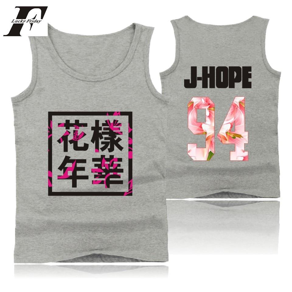LUCKYFRIDAYF Popular Bangtan Sleeveless   Tank     Top   mens Summer Streetwear Bodybuilding   Tank     Top   Korean Kpop KPOP Hip Hop 4XL Vest