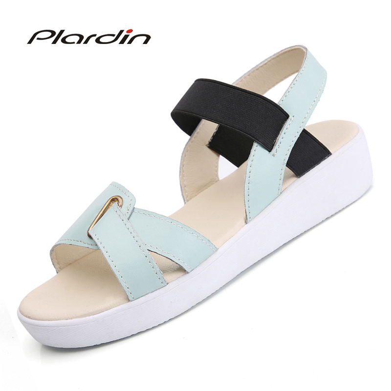 plardin sandals female 2018 summer Korean version of the simple sandals flat with thick bottom open toe sandals shoes woman woman sandals 2018 summer women concise bling open toe casual shoes woman fashion thick bottom wedges sandals