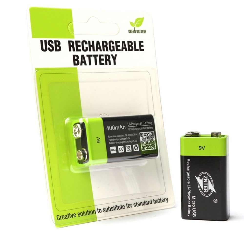 ZNTER ультра-эффективный 9 V 400 mAh USB Перезаряжаемые 9 V литий-полимерная Батарея для RC Аксессуары для видео-квадрокоптеров