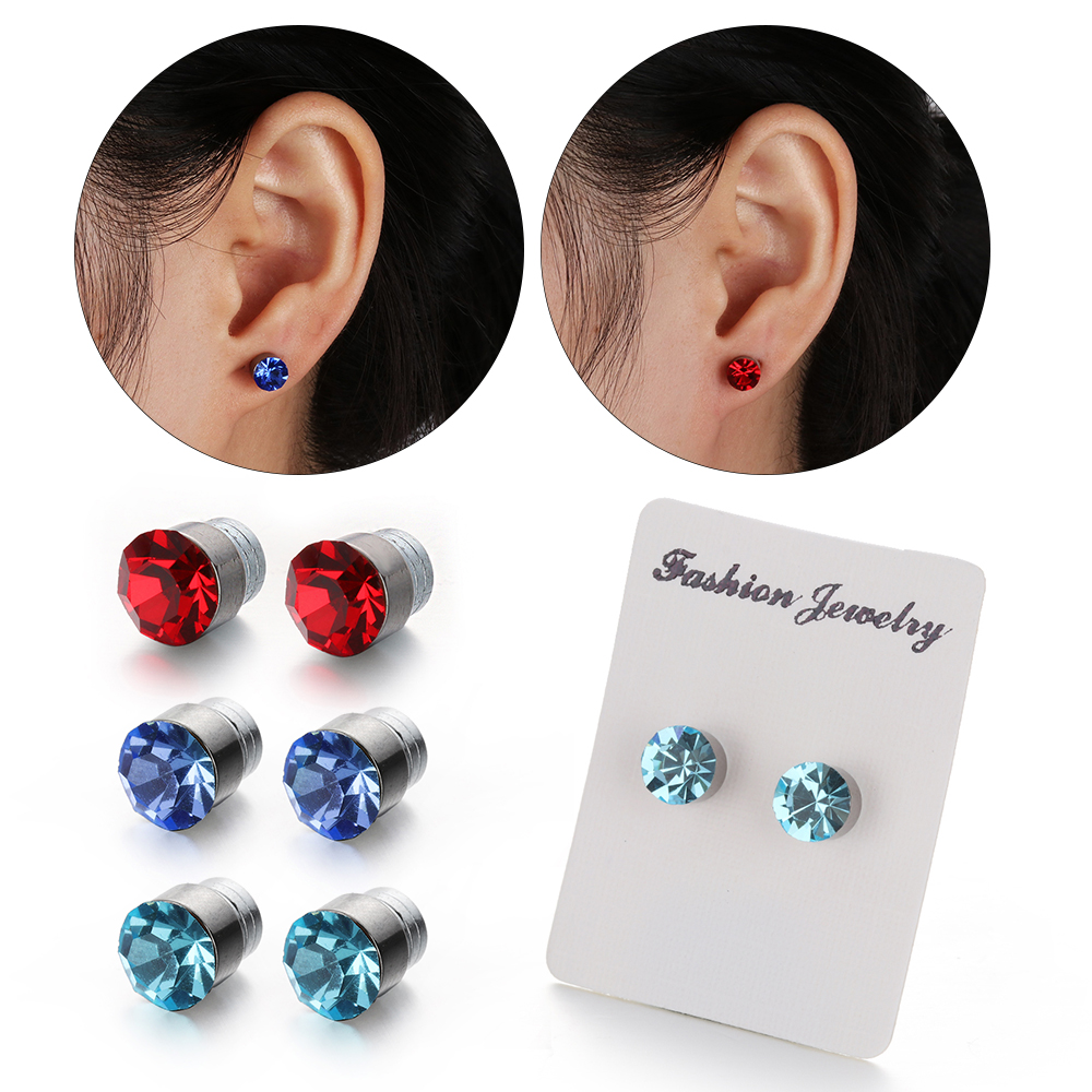 Boîte 18 Paire Mixte Lot Boucles d/'oreilles Clou Stud Allergie Bijoux Earrings