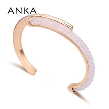 Бренд ANKA трендовый Круглый Браслет-манжета кристаллическая сетка, пылевые браслеты для женщин, роскошные свадебные украшения для вечеринок#131062
