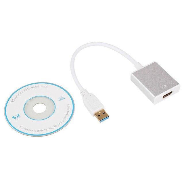 USB 3.0 Для HDMI Конвертер Кабель Дисплей Видеоадаптер Для ПК HDTV LCD HD 1080 P
